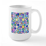 Star Stain Glass Pattern Large Mug
