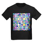 Star Stain Glass Pattern Kids Dark T-Shirt