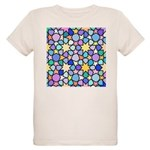 Star Stain Glass Pattern Organic Kids T-Shirt