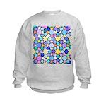 Star Stain Glass Pattern Kids Sweatshirt