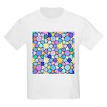 Star Stain Glass Pattern Kids Light T-Shirt