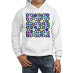 Star Stain Glass Pattern Hooded Sweatshirt