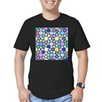 Star Stain Glass Pattern Men's Fitted T-Shirt (dar