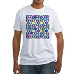 Star Stain Glass Pattern Fitted T-Shirt