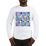 Star Stain Glass Pattern Long Sleeve T-Shirt