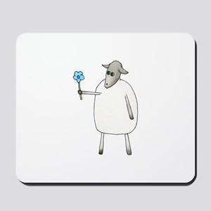 Sheep with a Flower. Mousepad