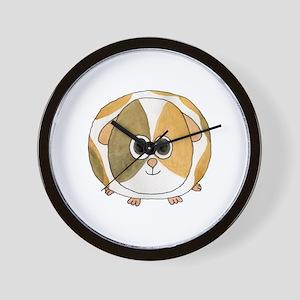Tortoiseshell Guinea Pig. Wall Clock