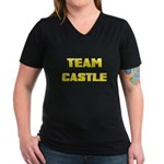 Team Castle yellow 1 Women's V-Neck Dark T-Shi