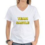 Team Castle yellow 1 Women's V-Neck T-Shirt
