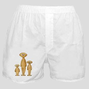 Family of Meerkats. Boxer Shorts