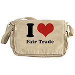I Heart Fair Trade Messenger Bag
