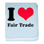 I Heart Fair Trade Baby Blanket