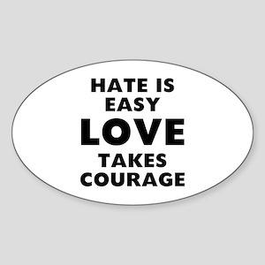 Hate Love Sticker (Oval)