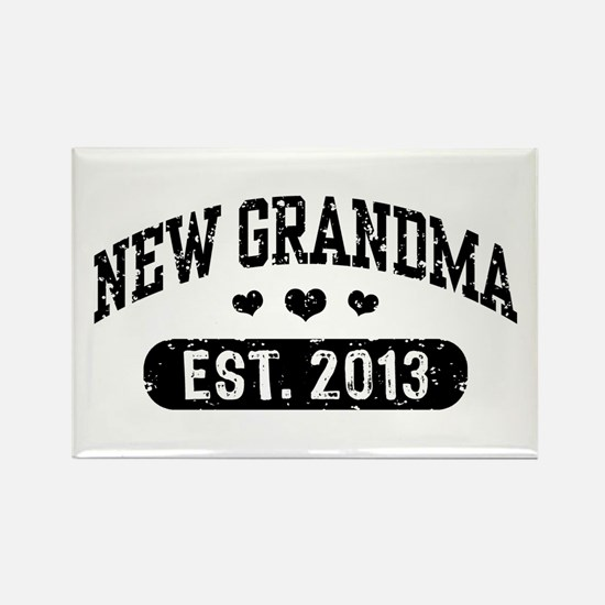 New Grandma Est. 2013 Rectangle Magnet