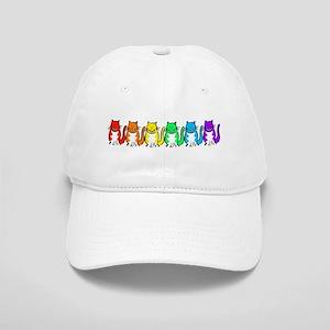 Happy Rainbow Cats Cap