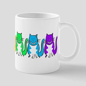 Happy Rainbow Cats Mug