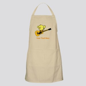 Chick with Guitar and Text. Apron