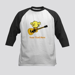 Chick with Guitar and Text. Kids Baseball Jersey