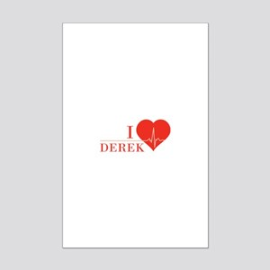 I love Derek Mini Poster Print