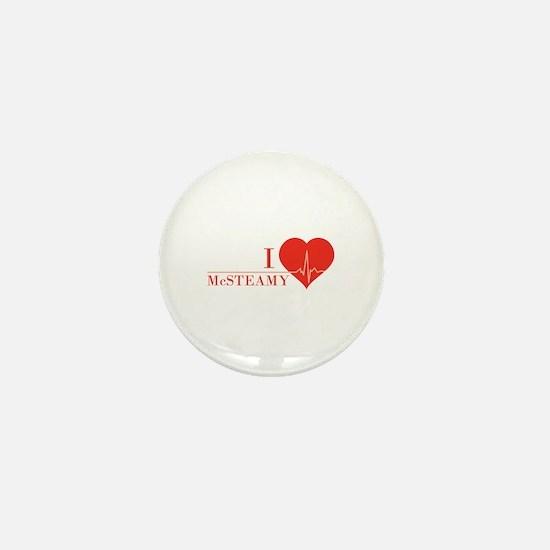 I love McSteamy Mini Button