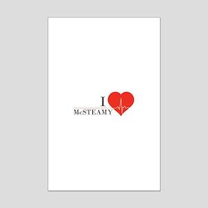 I love McSteamy Mini Poster Print