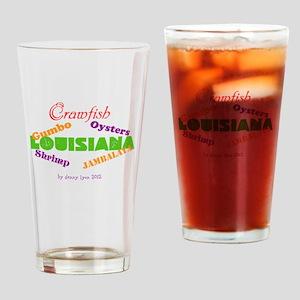 Louisiana Seafood Drinking Glass