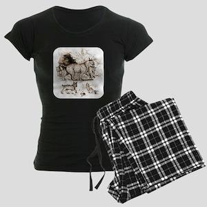 Bobcat Family Women's Dark Pajamas