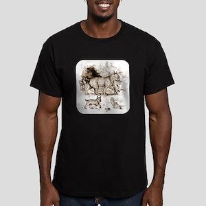 Bobcat Family Men's Fitted T-Shirt (dark)