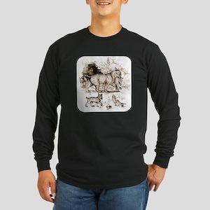 Bobcat Family Long Sleeve Dark T-Shirt