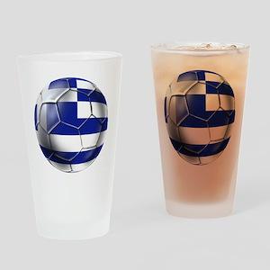 Greece Football Drinking Glass