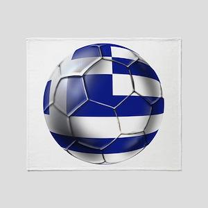 Greece Football Throw Blanket