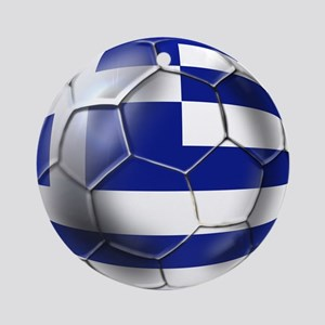 Greece Football Ornament (Round)