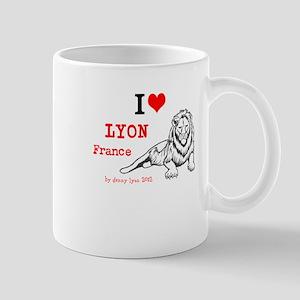I Love Lyon, France and lion Mug