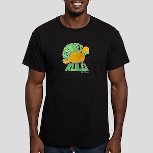 Herbivores Rule! Men's Fitted T-Shirt (dark)