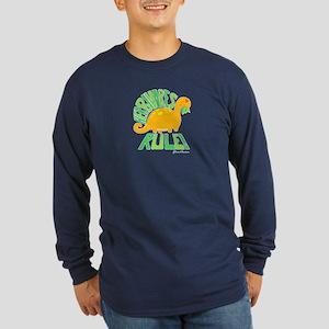 Herbivores Rule! Long Sleeve Dark T-Shirt