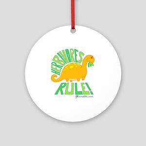Herbivores Rule! Ornament (Round)