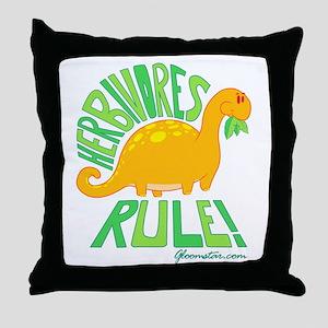 Herbivores Rule! Throw Pillow