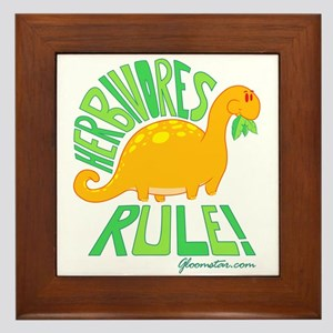 Herbivores Rule! Framed Tile