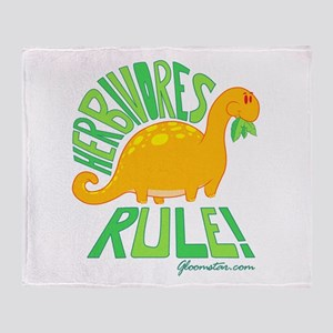 Herbivores Rule! Throw Blanket