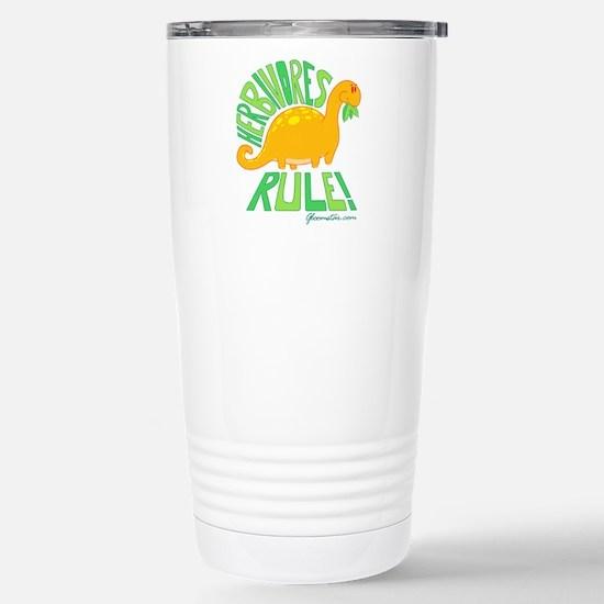 Herbivores Rule! Stainless Steel Travel Mug