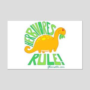 Herbivores Rule! Mini Poster Print