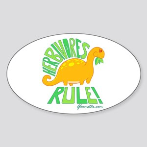 Herbivores Rule! Sticker (Oval)