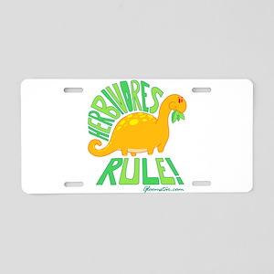 Herbivores Rule! Aluminum License Plate