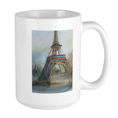 Eiffel Tower in fall colors Large Mug