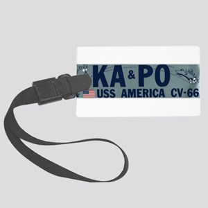 USS America KA PO Large Luggage Tag