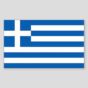Flag of Greece Sticker (Rectangle 10 pk)