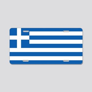 Flag of Greece Aluminum License Plate