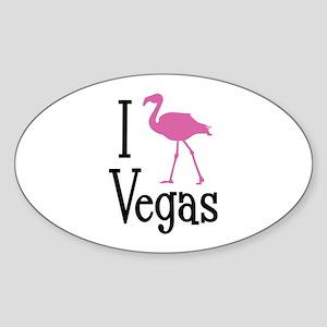 I Love Vegas Sticker (Oval)