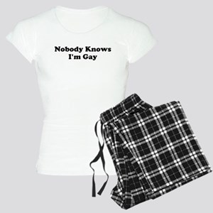 Nobody Knows Im Gay bk Women's Light Pajamas