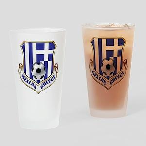 Greek Soccer Shield Drinking Glass